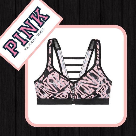 6ce691ae5a NEW VS PINK Ultimate zip front sports push up bra